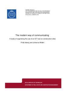 The modern way of communicating