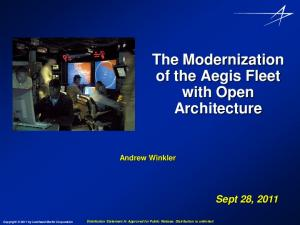 The Modernization of the Aegis Fleet with Open Architecture