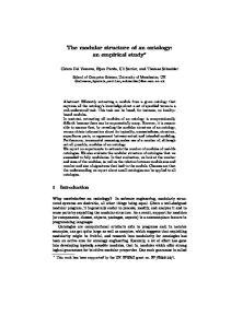 The modular structure of an ontology: an empirical study