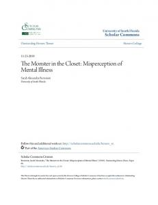 The Monster in the Closet: Misperception of Mental Illness