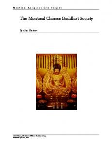 The Montreal Chinese Buddhist Society