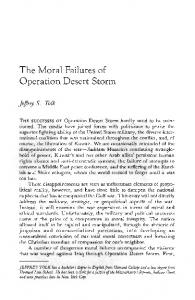 The Moral Failures of Operation Desert Storm