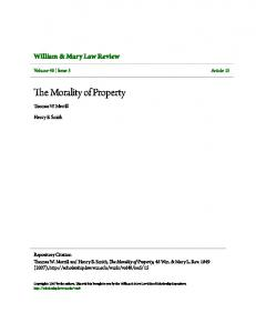 The Morality of Property
