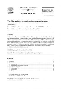 The Morse Witten complex via dynamical systems