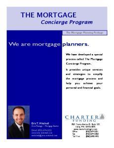 THE MORTGAGE Concierge Program