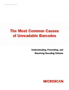 The Most Common Causes of Unreadable Barcodes