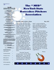 The MUD New York State Horseshoe Pitchers Association