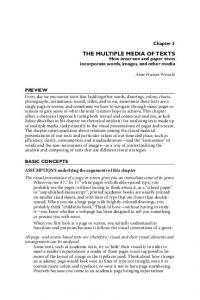 THE MULTIPLE MEDIA OF TEXTS