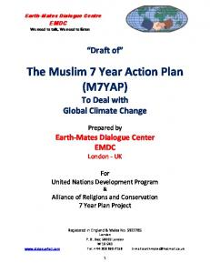 The Muslim 7 Year Action Plan (M7YAP) To Deal with Global Climate Change