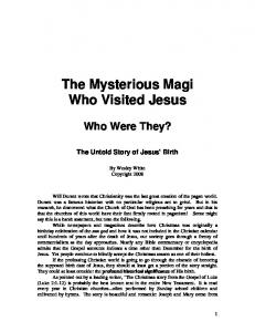 The Mysterious Magi Who Visited Jesus