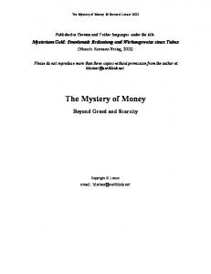 The Mystery of Money