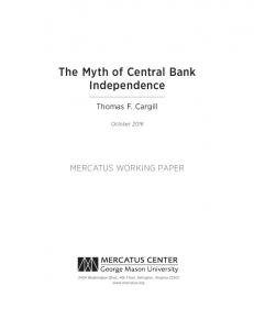 The Myth of Central Bank Independence