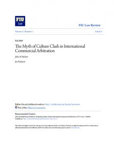 The Myth of Culture Clash in International Commercial Arbitration