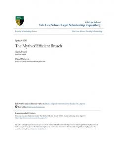 The Myth of Efficient Breach