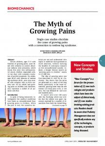 The Myth of Growing Pains