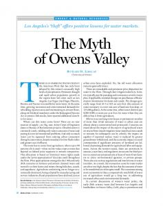The Myth of Owens Valley