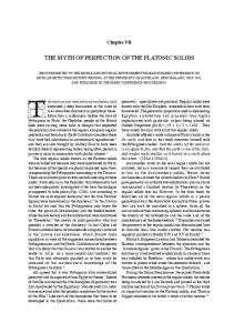 THE MYTH OF PERFECTION OF THE PLATONIC SOLIDS