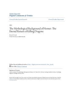 The Mythological Background of Homer: The Eternal Return of Killing Dragons