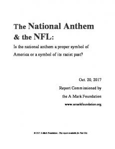 The National Anthem & the NFL: