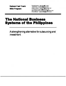 The National Business Systems of the Philippines