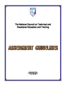 The National Council on Technical and Vocational Education and Training