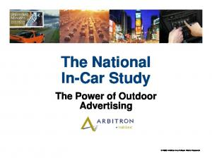 The National In-Car Study
