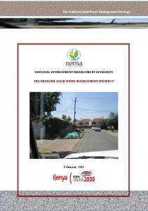 The National Solid Waste Management Strategy