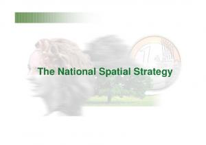 The National Spatial Strategy
