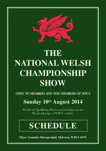 THE NATIONAL WELSH CHAMPIONSHIP SHOW