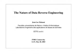 The Nature of Data Reverse Engineering