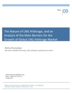 The Nature of LNG Arbitrage, and an. Growth of Global LNG Arbitrage Market