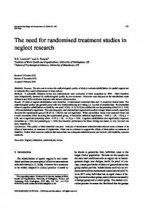 The need for randomised treatment studies in neglect research