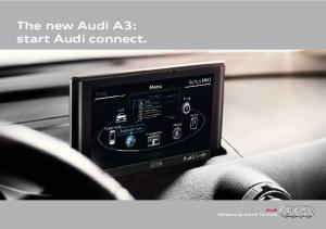 The new Audi A3: start Audi connect