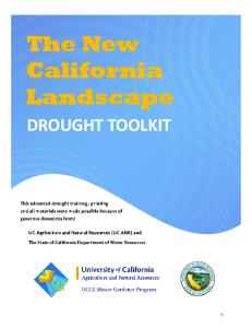 The New California Landscape DROUGHT TOOLKIT
