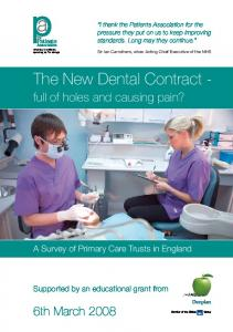 The New Dental Contract -
