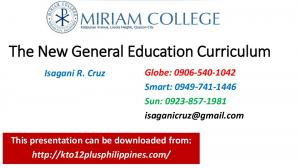 The New General Education Curriculum