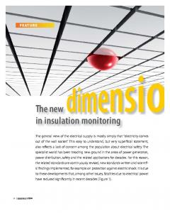 The new in insulation monitoring