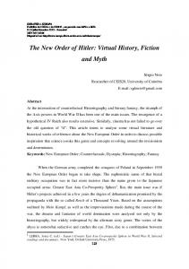 The New Order of Hitler: Virtual History, Fiction and Myth