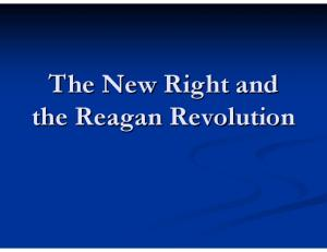 The New Right and the Reagan Revolution