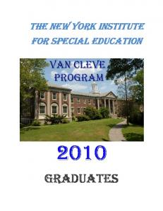 THE New YORK INSTITUTE FOR SPECIAL EDUCATION GRADUATES