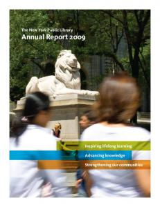 The New York Public Library Annual Report 2009
