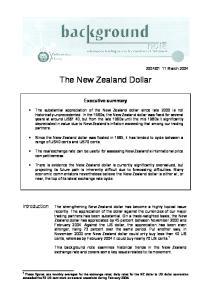 The New Zealand Dollar