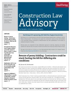 The Newsletter of the Construction Practice