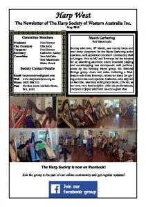 The Newsletter of The Harp Society of Western Australia Inc. May 2015