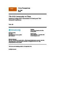 The NGO Community in China