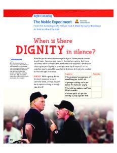 The Noble Experiment. When is there