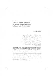 The Non-German German and the German German: Dilemmas of Identity after the Holocaust