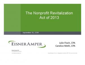 The Nonprofit Revitalization Act of 2013