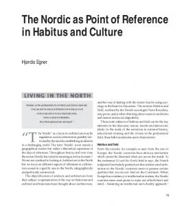 The Nordic as Point of Reference in Habitus and Culture