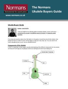 The Normans. Ukulele Buyers Guide.  Ukulele Buyers Guide